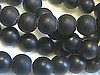 6mm Black Onyx Frosted Matte Round Beads (strand)